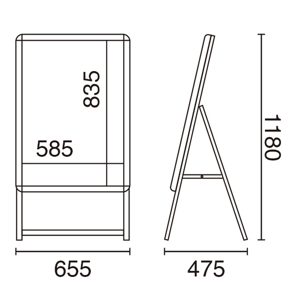 LEDグリップA A1片面 サイズ