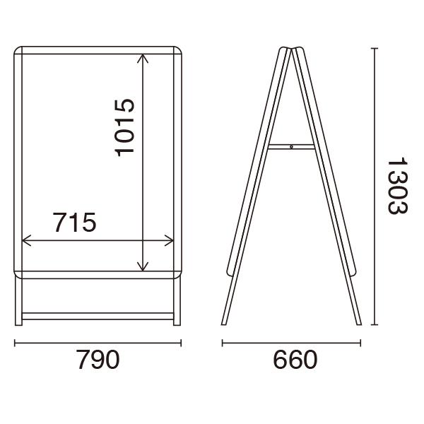 LEDグリップA B1両面 サイズ