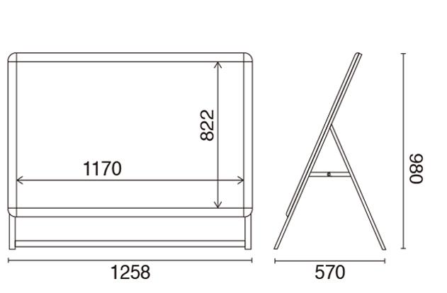 LEDグリップA A0片面 サイズ