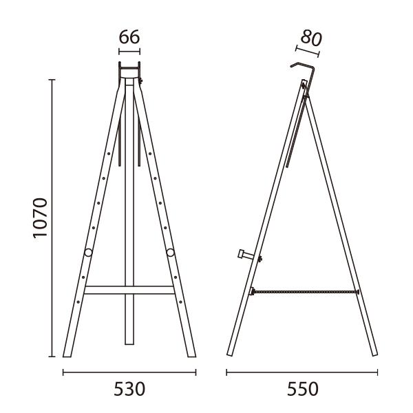 三角イーゼル サイズ
