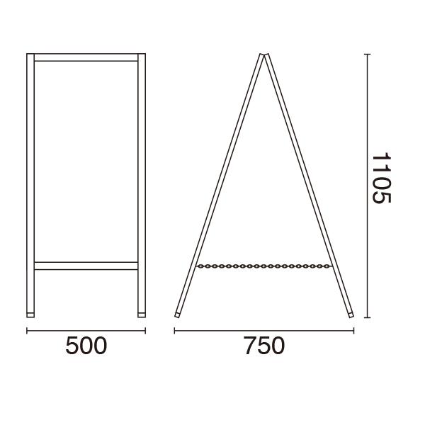 アンティークA型ボード サイズ