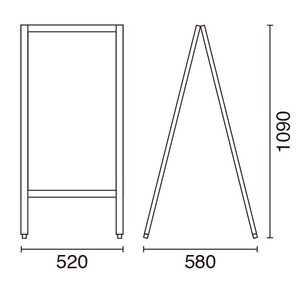A型ボードサイズ