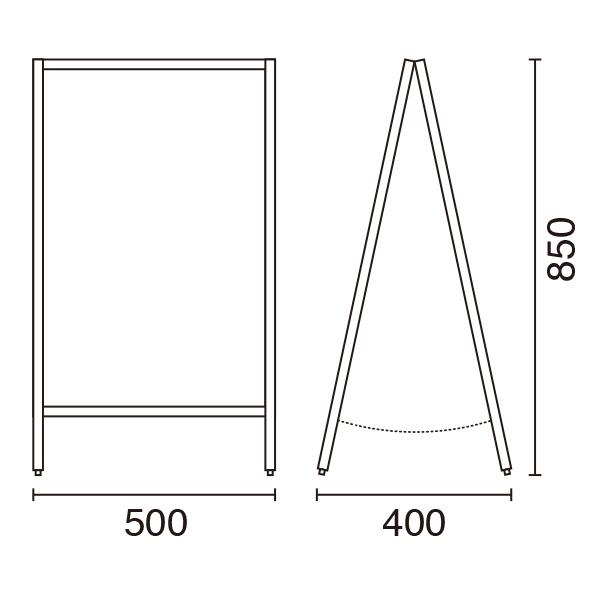 ロータイプA型ボードサイズ