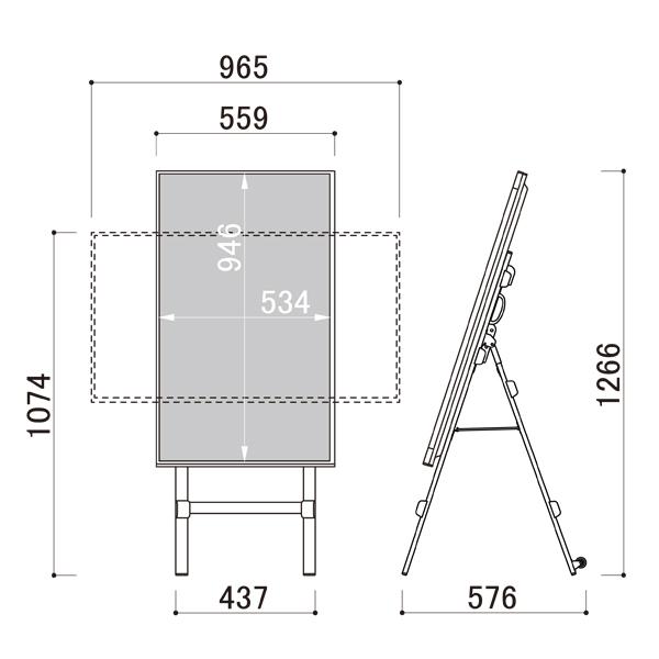 電子看板 デジタルサイネージTP436CS 図