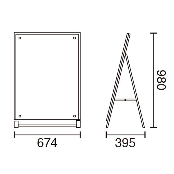 アクリルパネルスタンドAPS A1片面サイズ