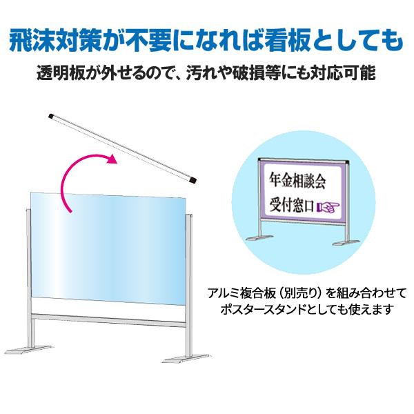 飛沫防止パーテーション説明