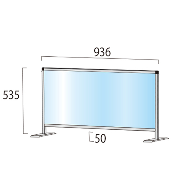 飛沫防止パーテーション450x600サイズ