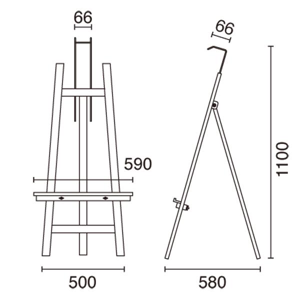 木製 イーゼル スマートウッドイーゼル図